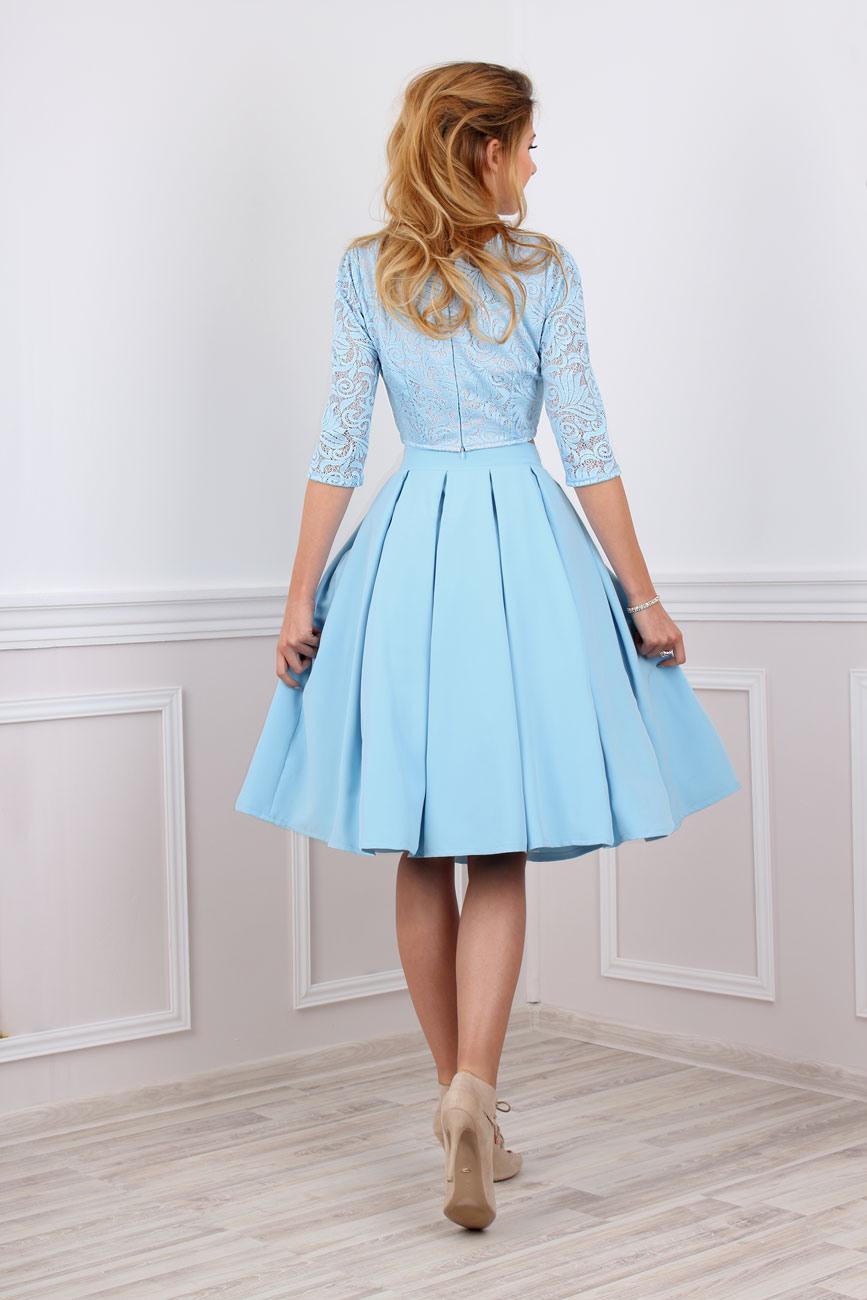 Abend Luxurius Kurzes Blaues Kleid ÄrmelFormal Top Kurzes Blaues Kleid Stylish