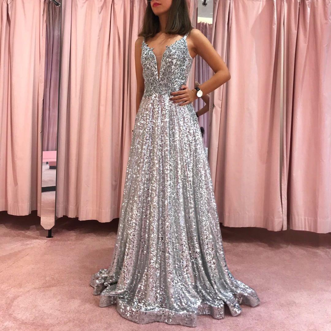 17 Luxurius Abendkleid Lang Glitzer für 2019Designer Spektakulär Abendkleid Lang Glitzer Design