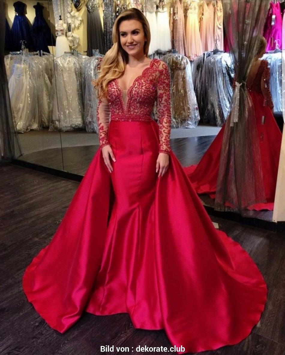 17 Leicht Rotes Abendkleid Lang Bester PreisDesigner Erstaunlich Rotes Abendkleid Lang Ärmel