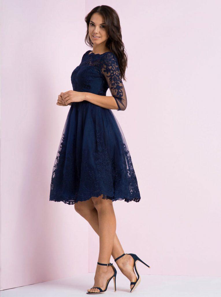 15 Erstaunlich Spitzenkleid Blau Vertrieb - Abendkleid