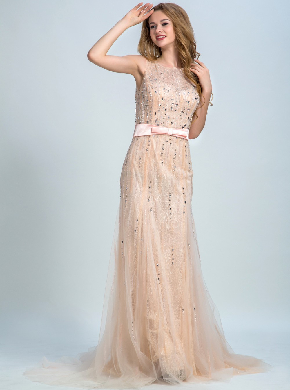 13 Genial Abendkleid Champagner Lang Stylish10 Luxurius Abendkleid Champagner Lang Design