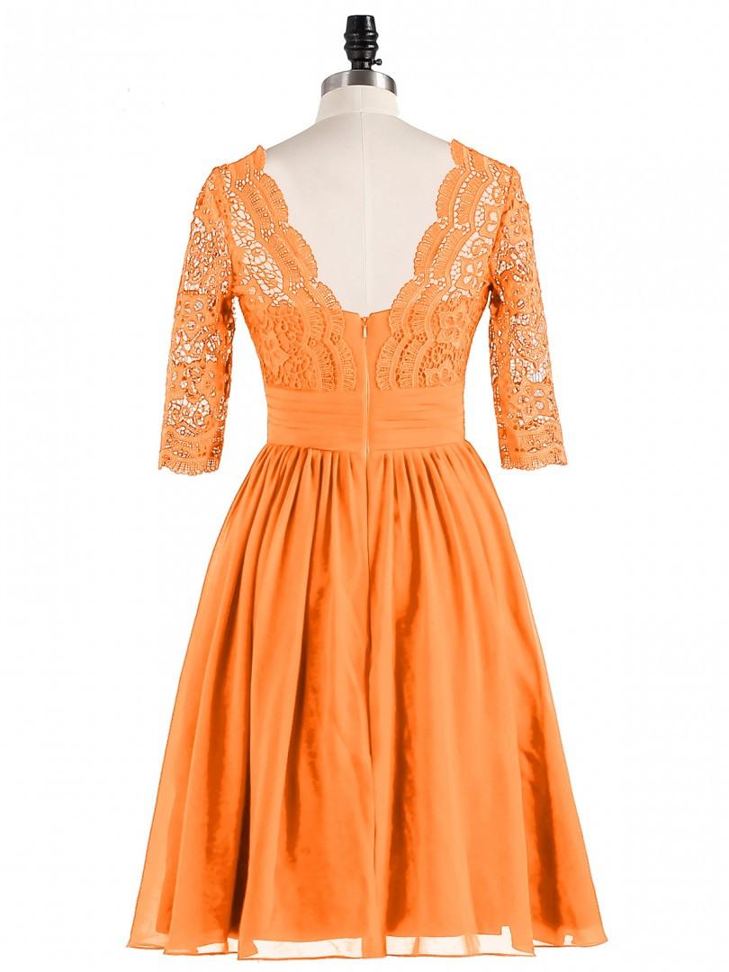 17 Wunderbar Kleid Orange Kurz Bester PreisAbend Spektakulär Kleid Orange Kurz Galerie
