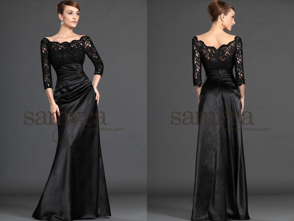 Abend Spektakulär Abendkleid Schwarz Schlicht Stylish13 Spektakulär Abendkleid Schwarz Schlicht Ärmel