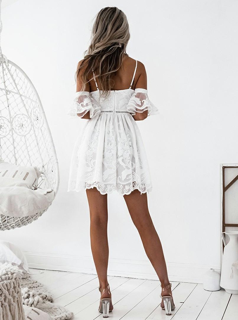 Abend Ausgezeichnet Kleid Weiß Kurz Design13 Einfach Kleid Weiß Kurz Spezialgebiet