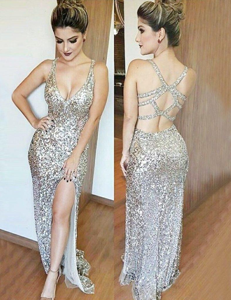 13 Großartig Abendkleid Glitzer Ärmel17 Elegant Abendkleid Glitzer Spezialgebiet