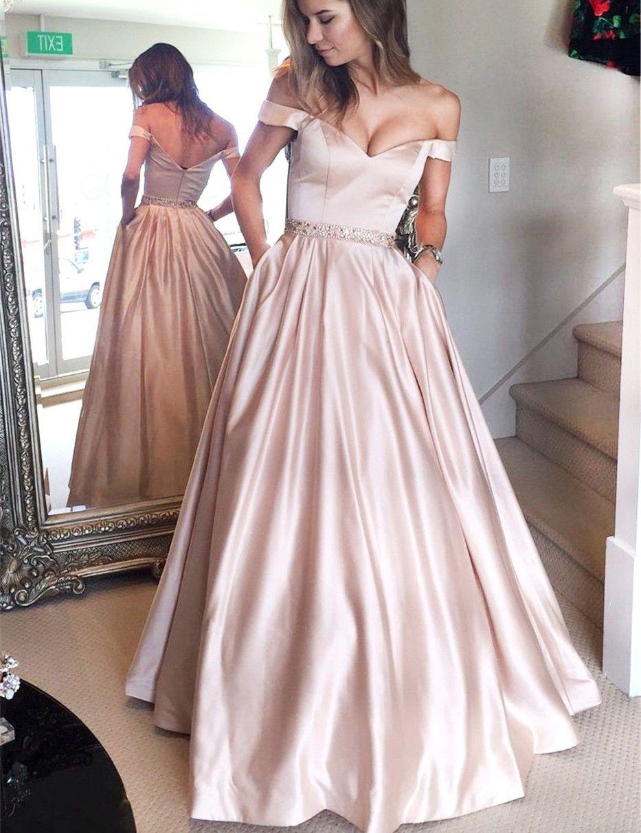 Designer Luxus Abendkleid Satin DesignFormal Einfach Abendkleid Satin für 2019