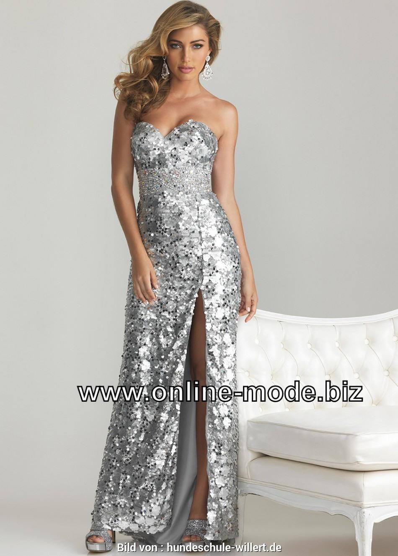 Formal Fantastisch Abendkleid Silber Stylish13 Elegant Abendkleid Silber Bester Preis