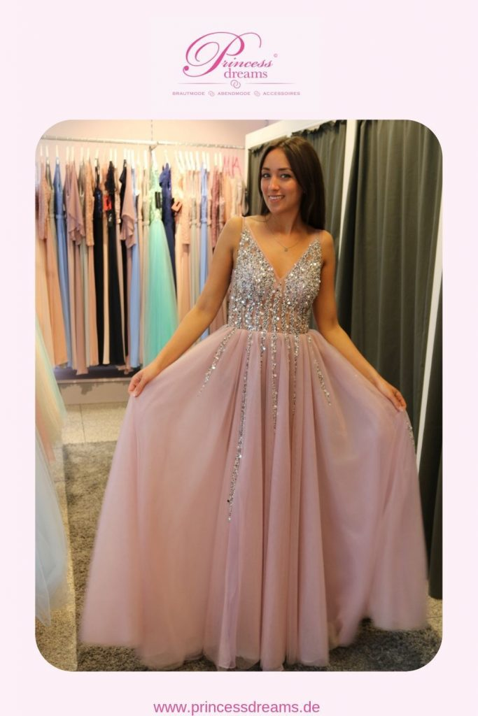 17 elegant kleid lang rosa Ärmel - abendkleid