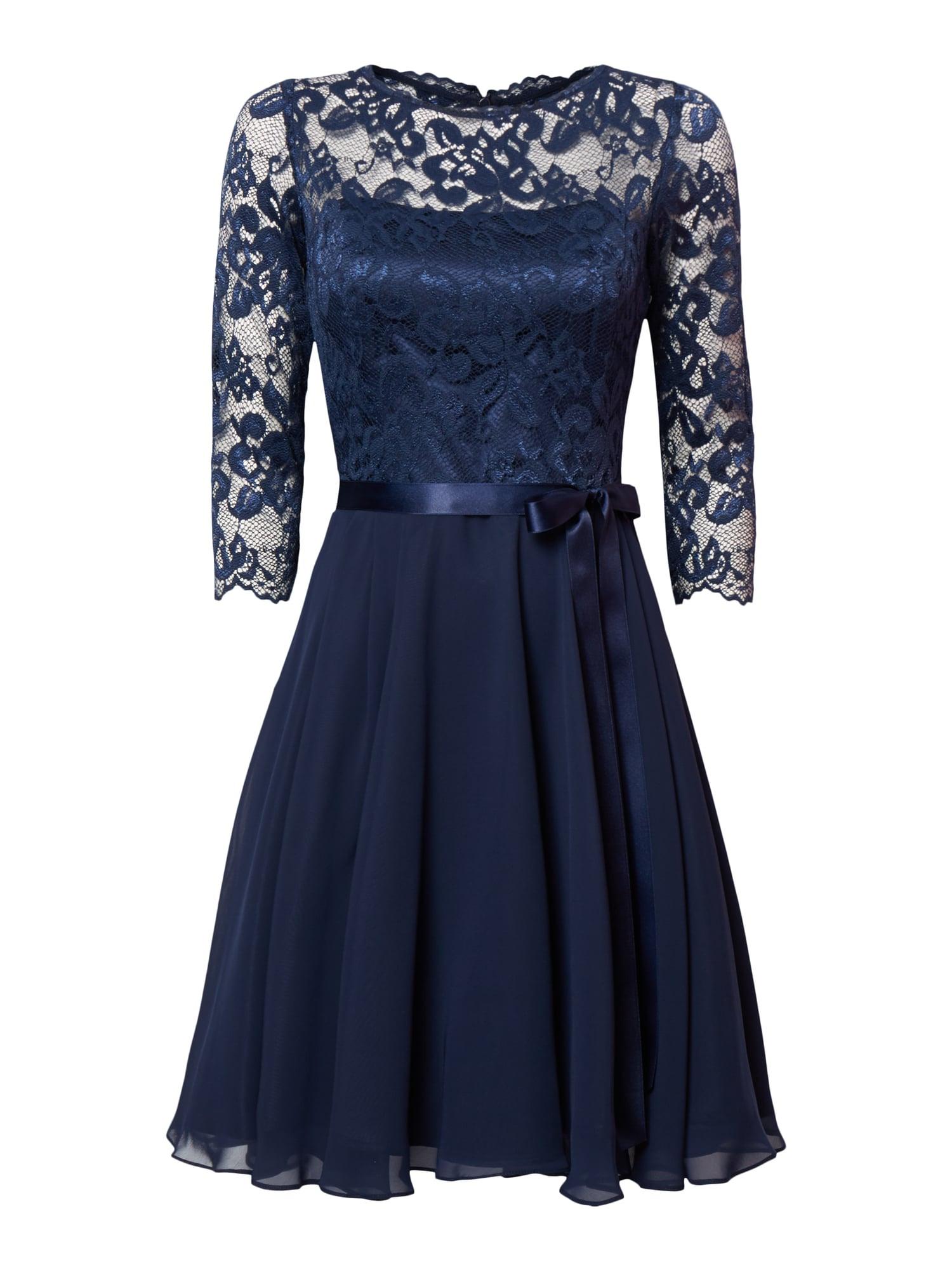 Abend Fantastisch Dunkelblaues Kleid Mit Spitze Vertrieb Spektakulär Dunkelblaues Kleid Mit Spitze Ärmel