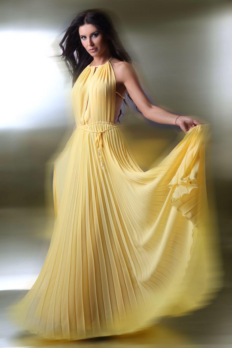 Designer Kreativ Gelbes Abendkleid DesignFormal Fantastisch Gelbes Abendkleid für 2019