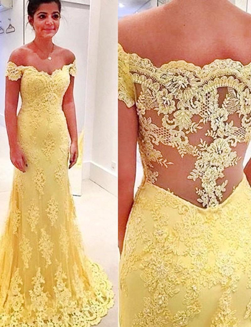 Abend Erstaunlich Abendkleid In Gelb Ärmel17 Top Abendkleid In Gelb Galerie