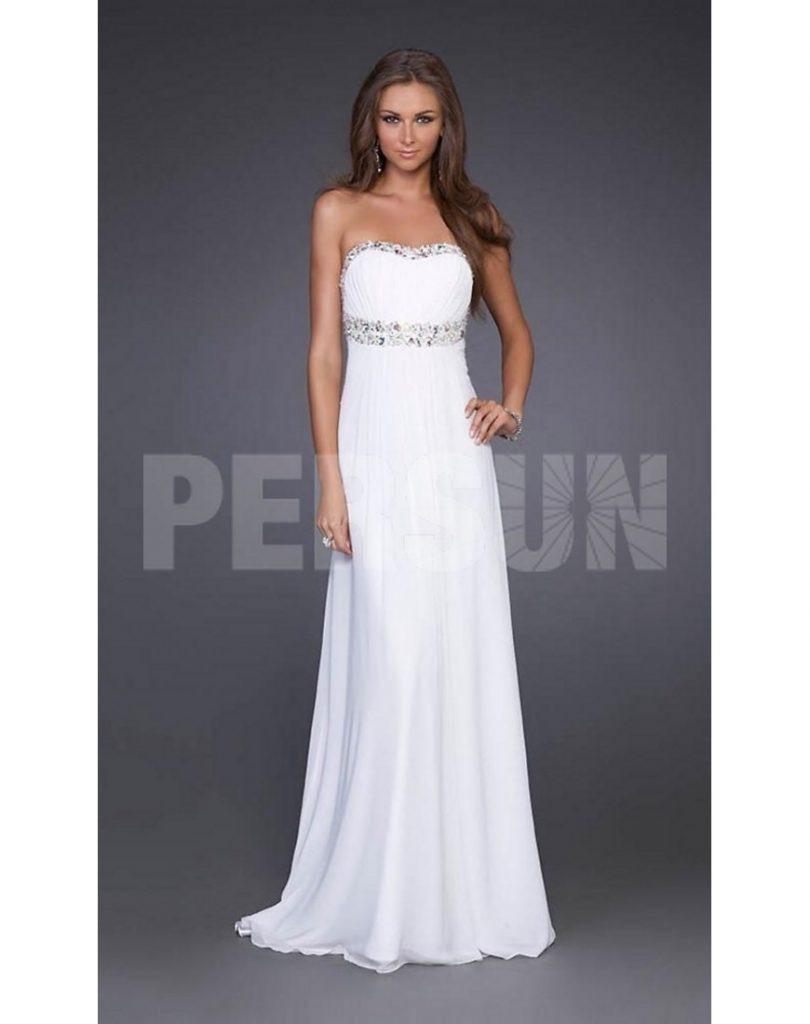 Genial Abendkleider Lang Weiß Günstig ÄrmelAbend Wunderbar Abendkleider Lang Weiß Günstig Ärmel