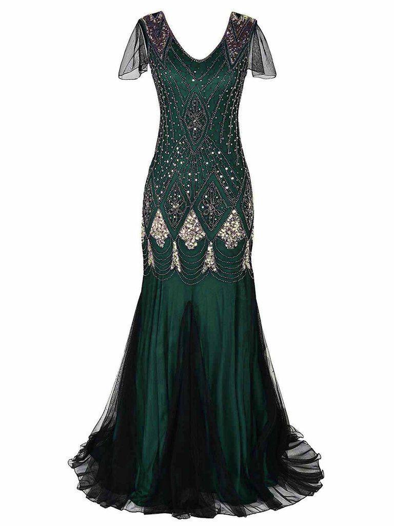 Designer Elegant Grüne Kleider In Großen Größen ÄrmelAbend Ausgezeichnet Grüne Kleider In Großen Größen Ärmel