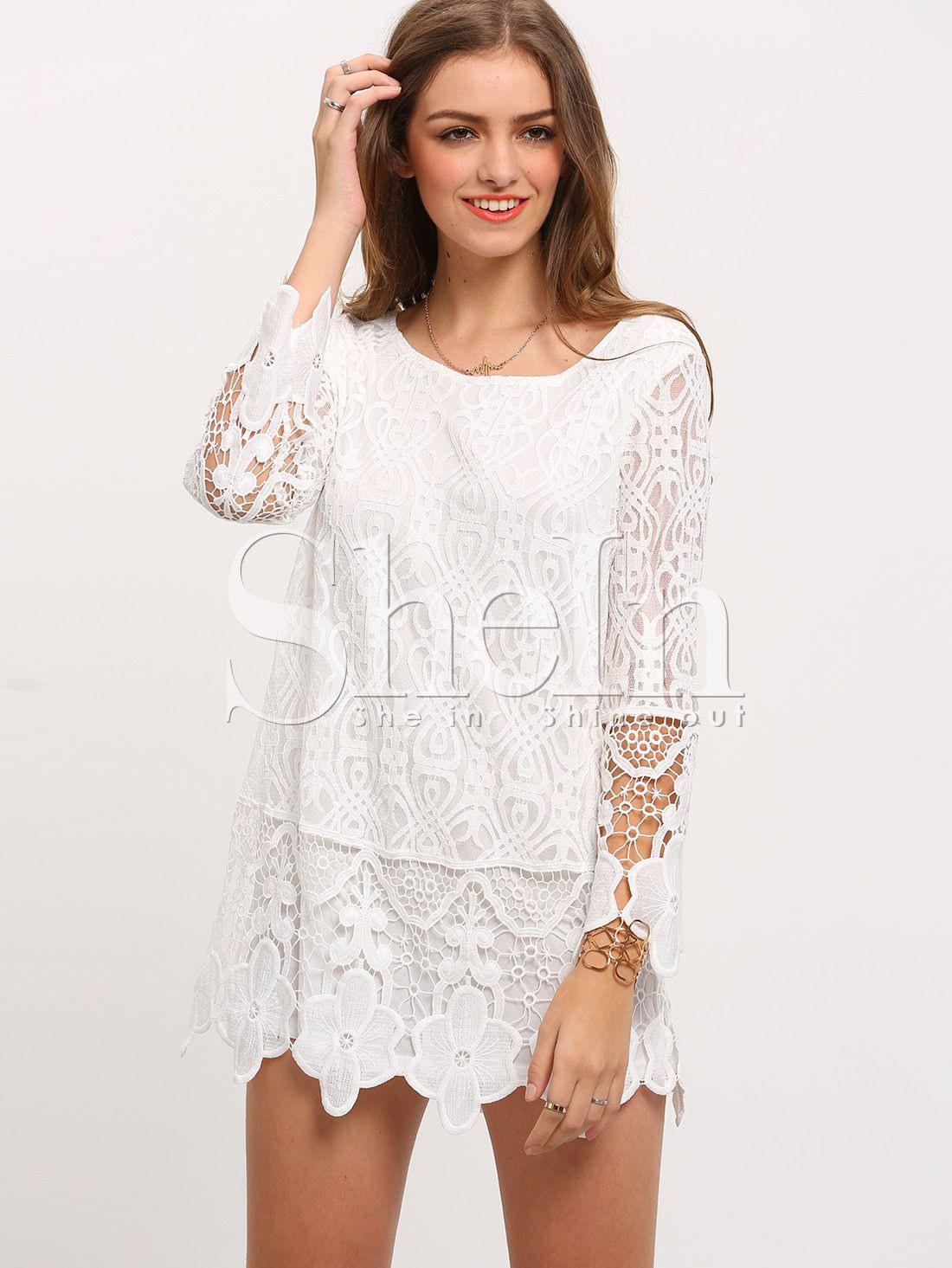 Designer Genial Weiße Kleider Mit Spitze Ärmel13 Einfach Weiße Kleider Mit Spitze Bester Preis