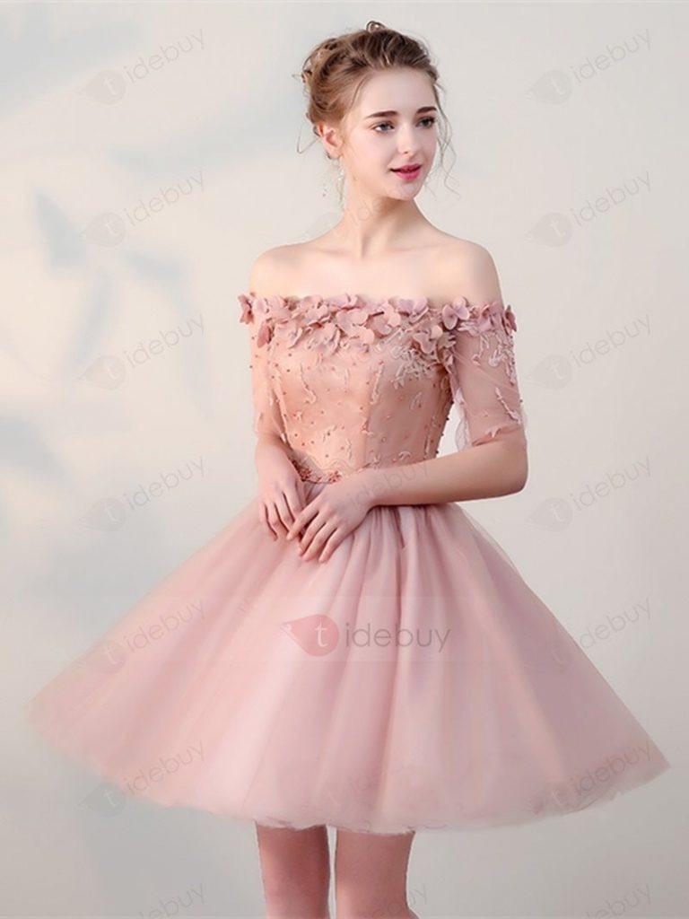 Wunderbar Kleid Rosa Spitze BoutiqueDesigner Schön Kleid Rosa Spitze Ärmel