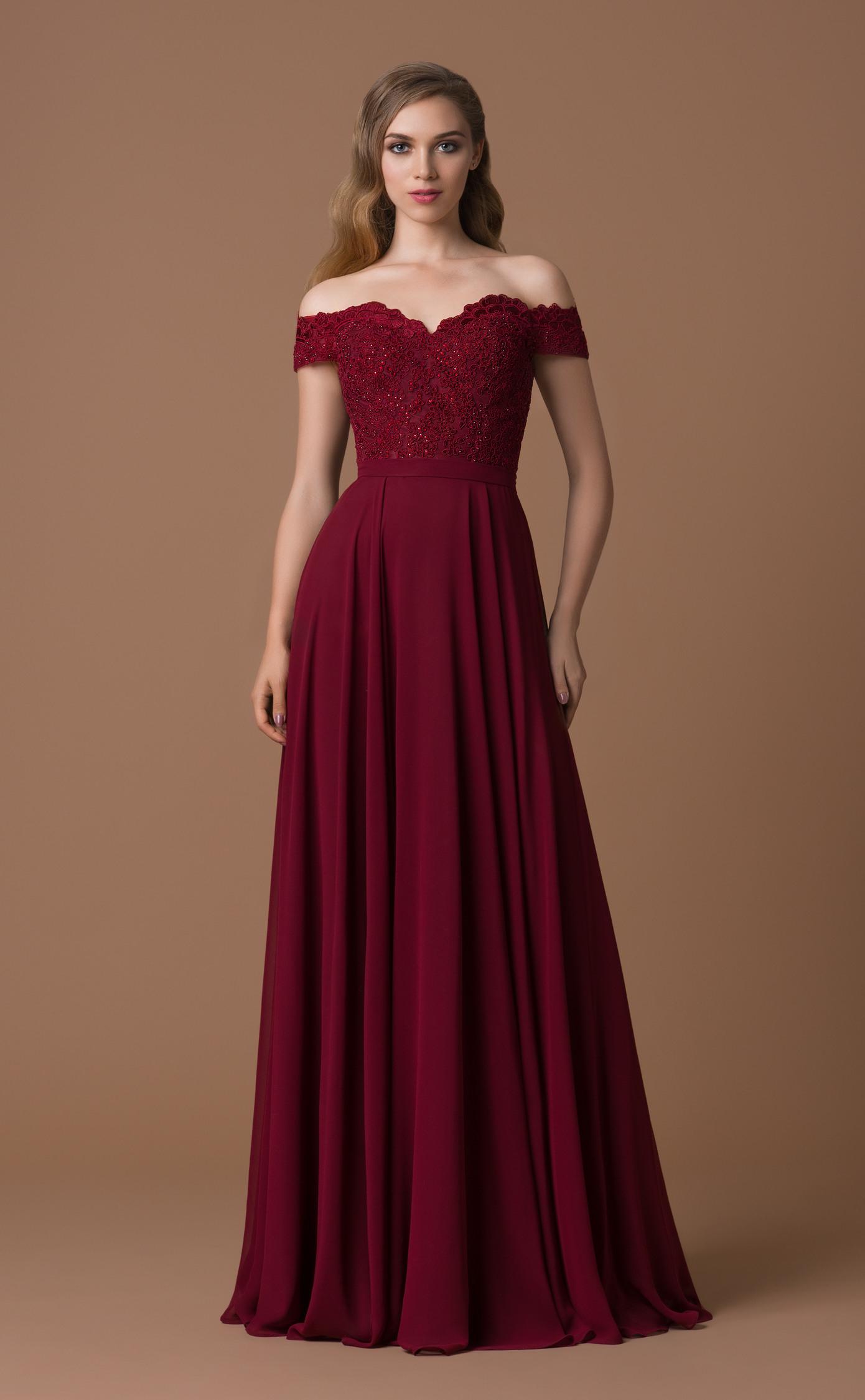 17 Schön Abendkleid Weinrot Lang Stylish - Abendkleid