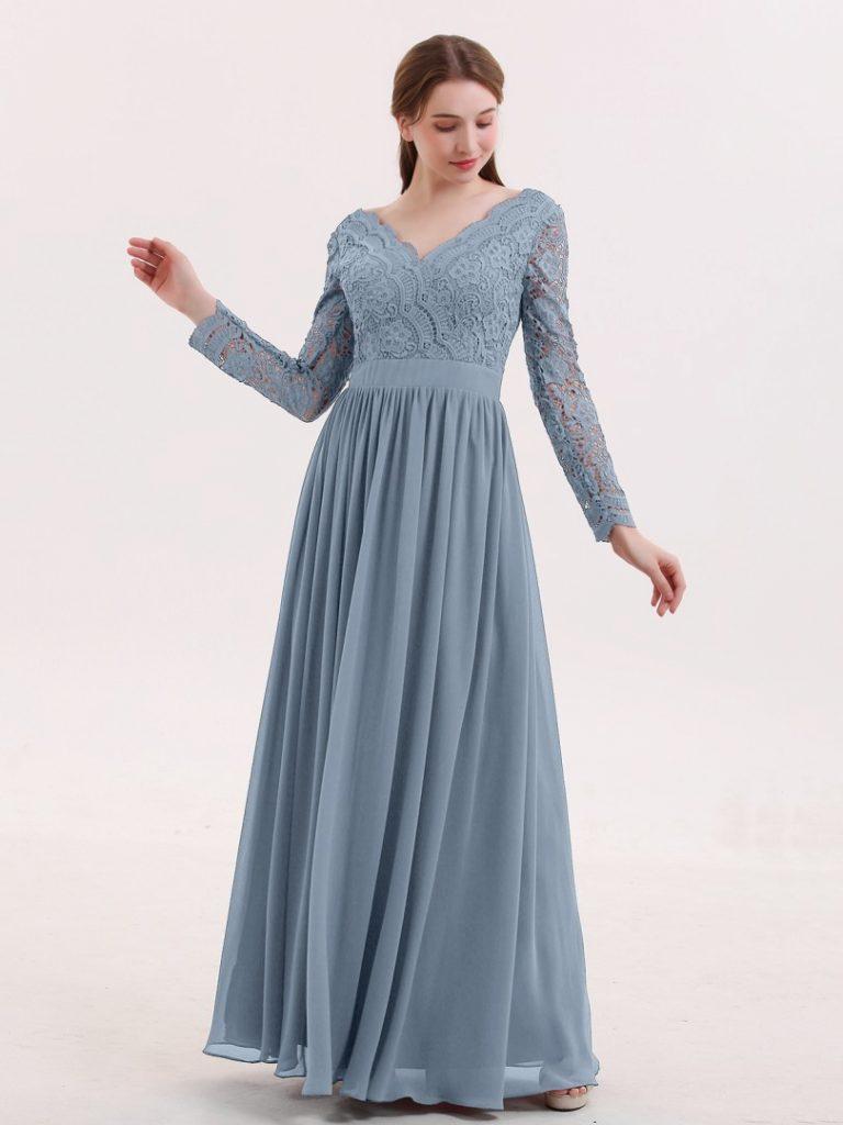 17 schön kleid blau lang stylish - abendkleid