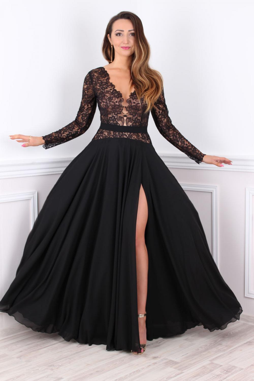 Schön Abendkleid Schwarz Spitze Lang für 201920 Luxus Abendkleid Schwarz Spitze Lang Spezialgebiet