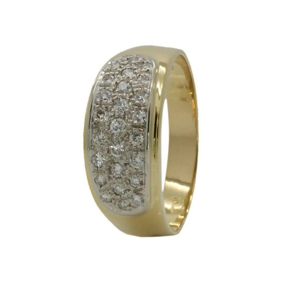 18 K Gold Damenring Mit Diamanten 0,45 Ct Verlobungsring Ehering Diama