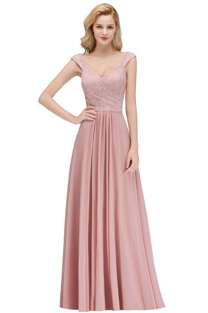 20 Ausgezeichnet Abendkleid Altrosa Lang Design - Abendkleid