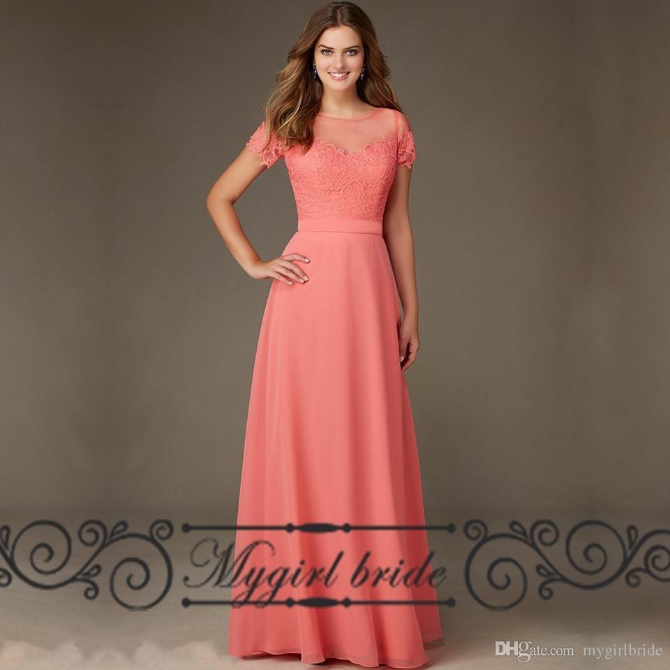 Abend Cool Kleid Hochzeit Koralle Ärmel13 Wunderbar Kleid Hochzeit Koralle Stylish