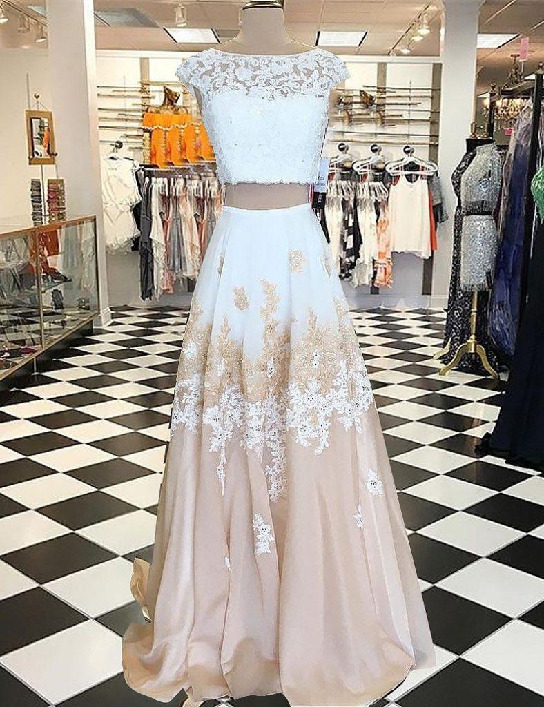 12 Elegant Zweiteiler Abendkleid Lang Ärmel - Abendkleid