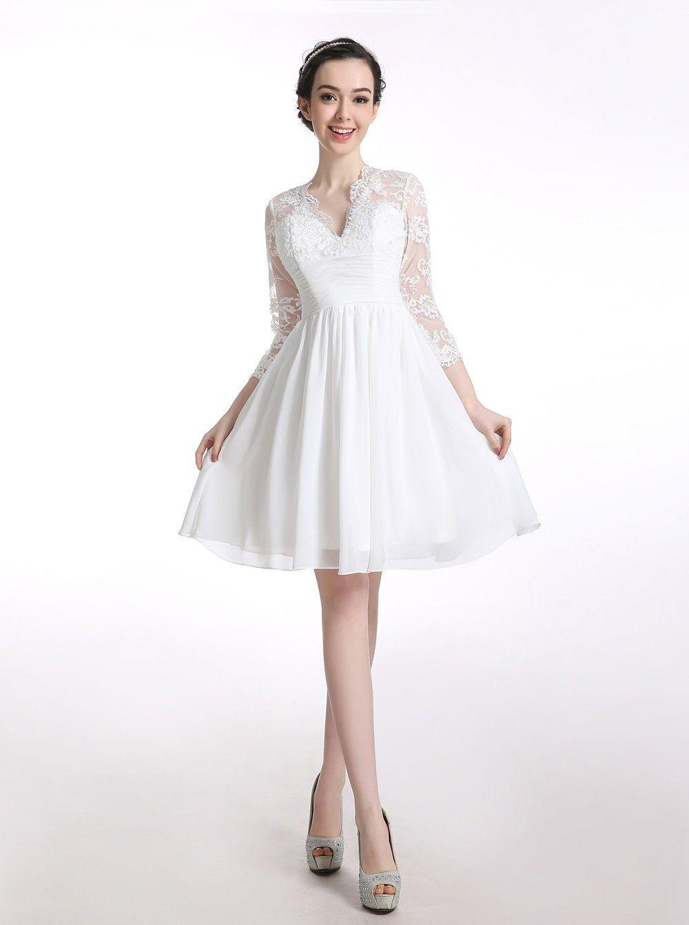 Designer Schön Kleid Weiß Kurz Ärmel15 Schön Kleid Weiß Kurz Vertrieb