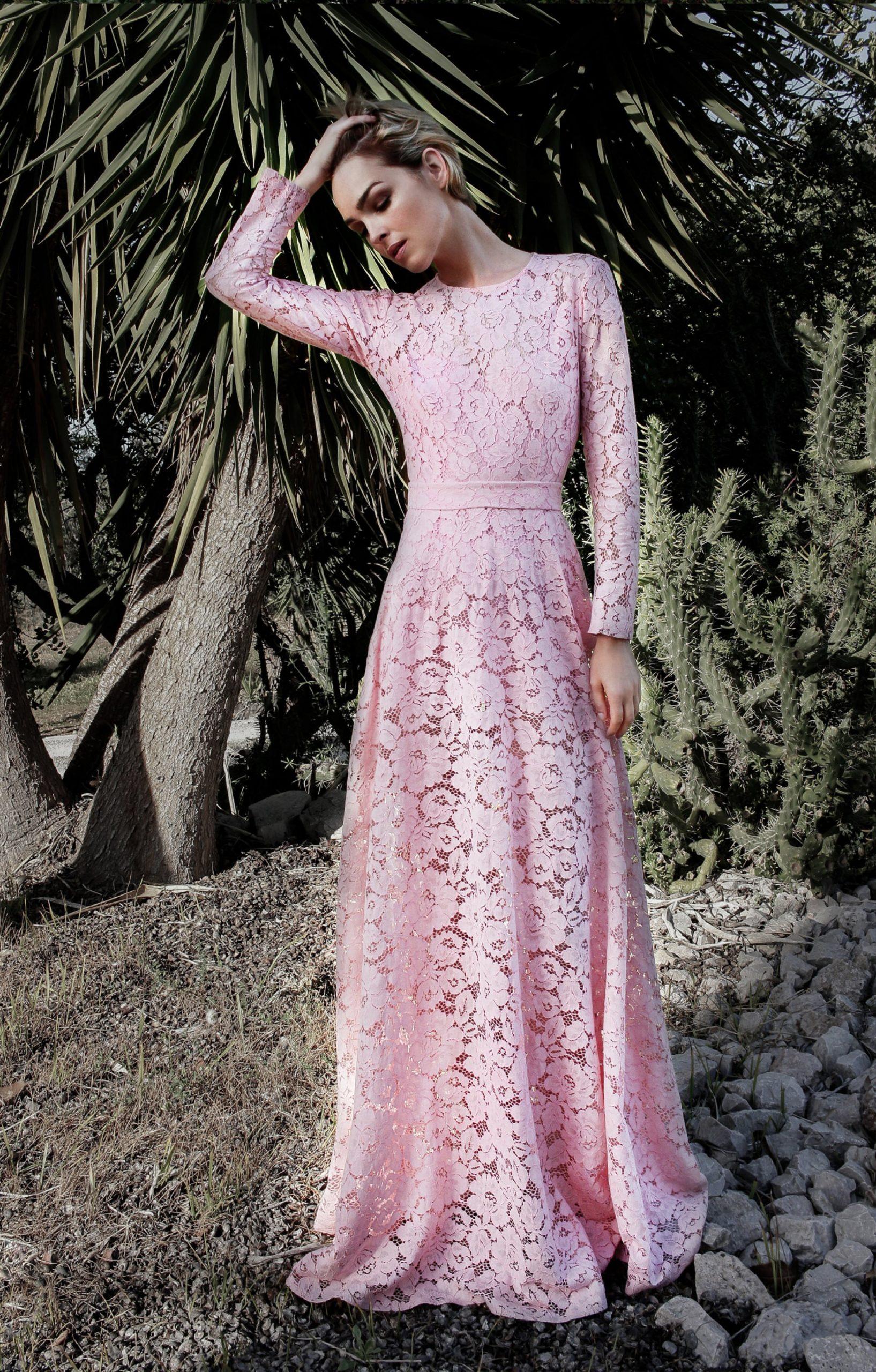 Abend Perfekt Rosa Kleid Mit Ärmeln Vertrieb Großartig Rosa Kleid Mit Ärmeln Vertrieb