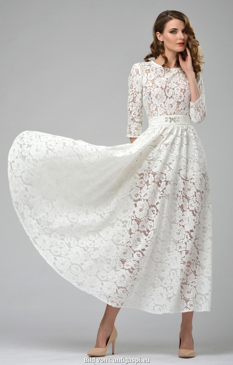 20 Genial Weiße Kleider Mit Spitze Stylish - Abendkleid