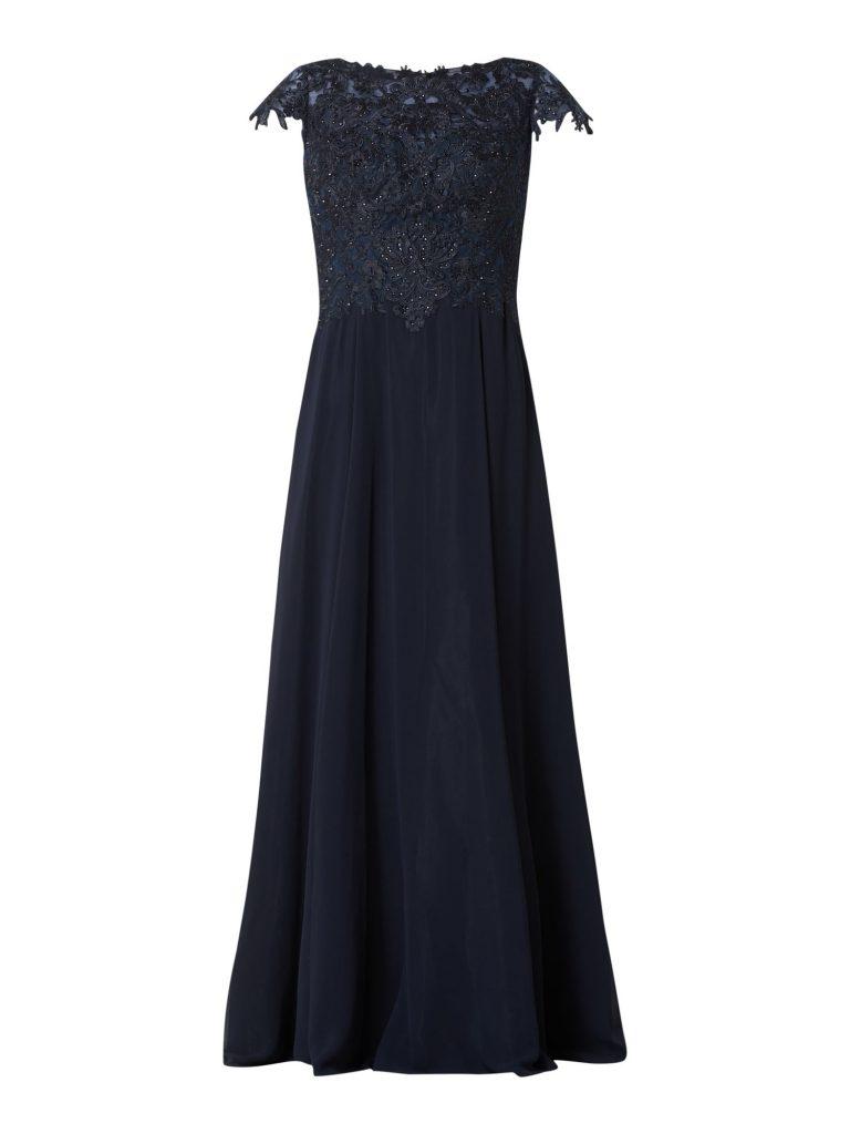 20 leicht vera mont abendkleid blau spezialgebiet - abendkleid
