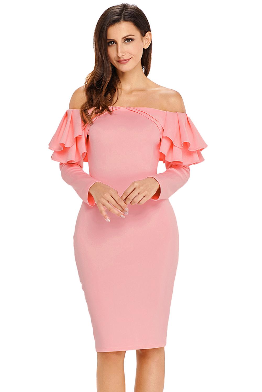 Abend Top Rosa Kleid Langarm für 2019Designer Fantastisch Rosa Kleid Langarm Spezialgebiet