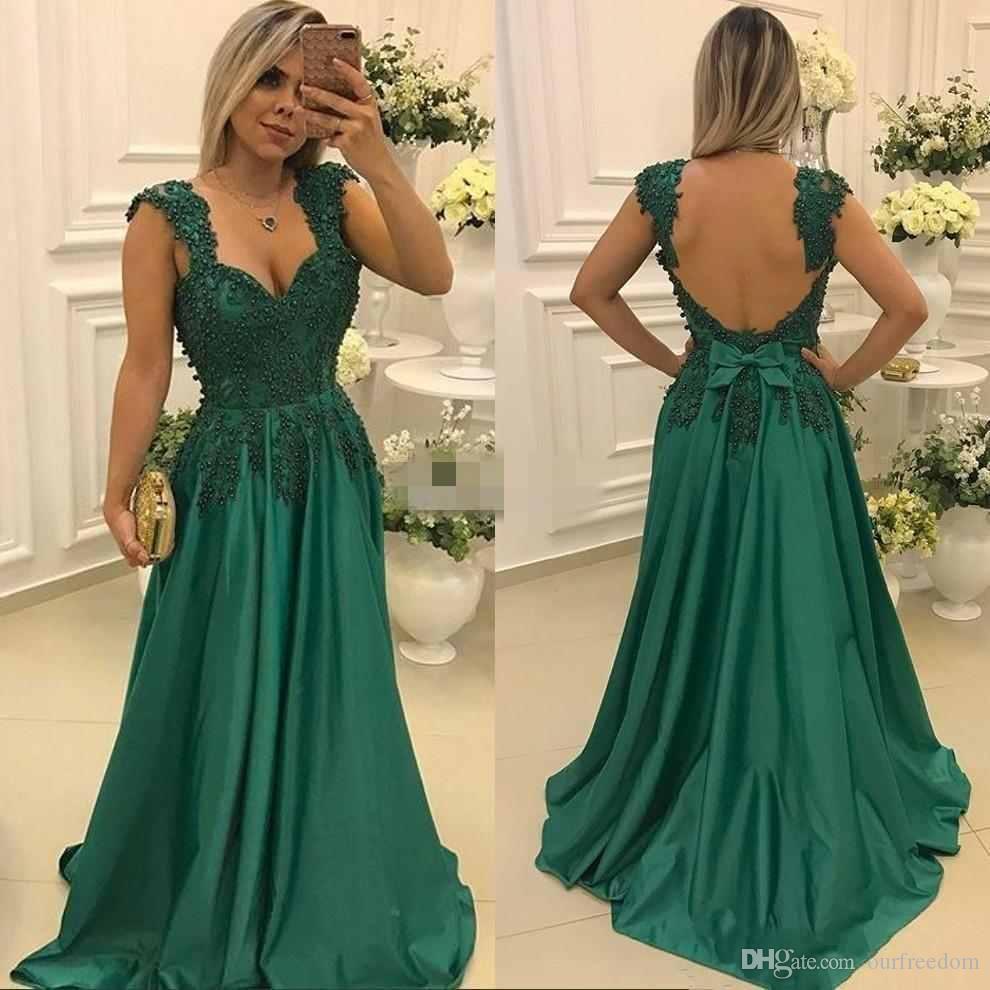Formal Elegant Grüne Abendkleider ÄrmelAbend Top Grüne Abendkleider Stylish