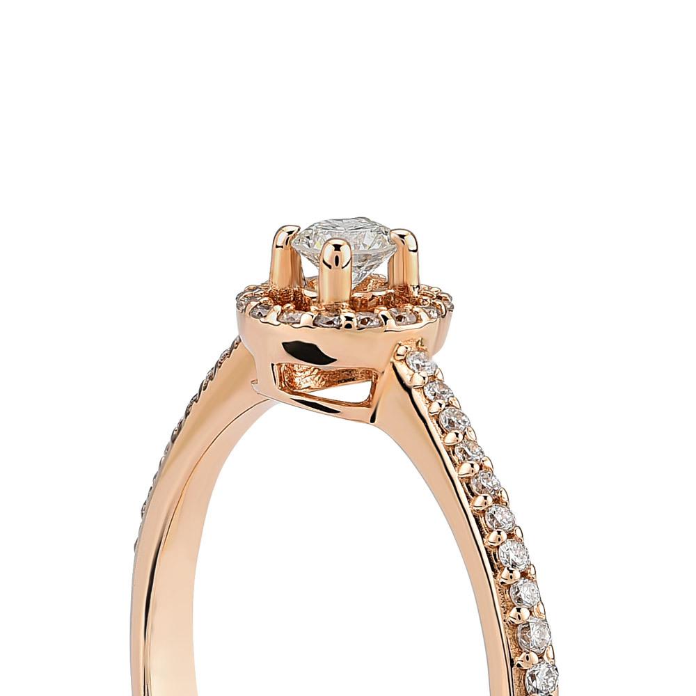 "585 Rosegold Paris Ring ""diamonds"" Online Kaufen I Günstig Auf Jmonds.de -  Jmonds.de"