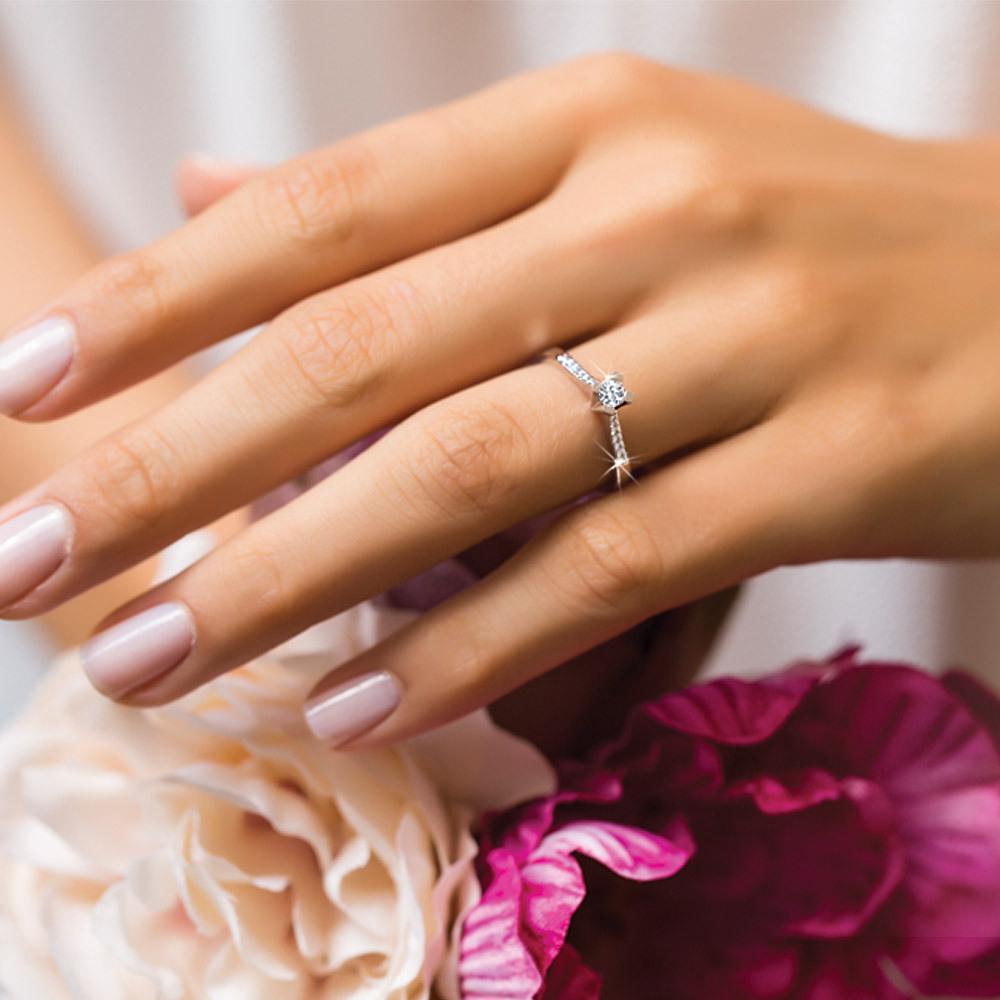 """585 Weißgold Paris Ring """"diamonds"""" Online Kaufen I Günstig Auf Jmonds.de -  Jmonds.de"""