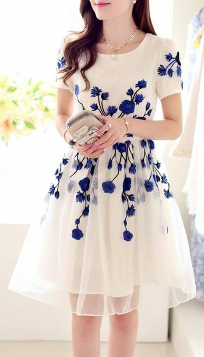 20 Kreativ Weißes Kleid Mit Blauen Blumen Boutique15 Schön Weißes Kleid Mit Blauen Blumen Galerie