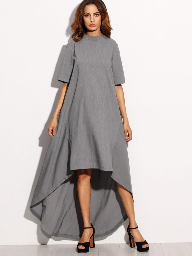 10 Perfekt Kleid Grau Langarm für 201915 Schön Kleid Grau Langarm Galerie