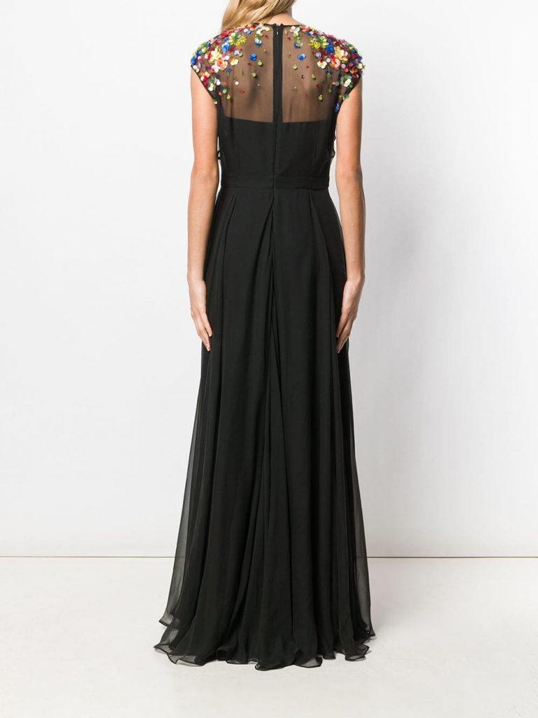 Abend Elegant Escada Abendkleid Ärmel - Abendkleid