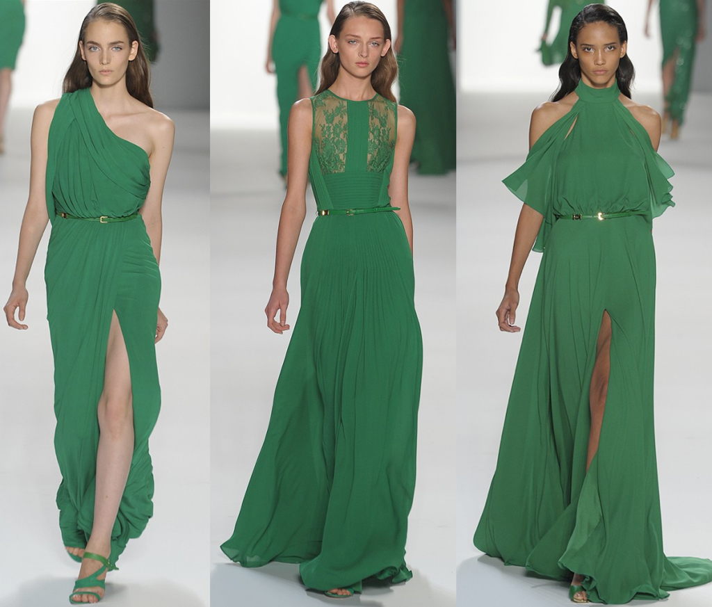 Abend Leicht Grünes Kleid Spitze Ärmel - Abendkleid