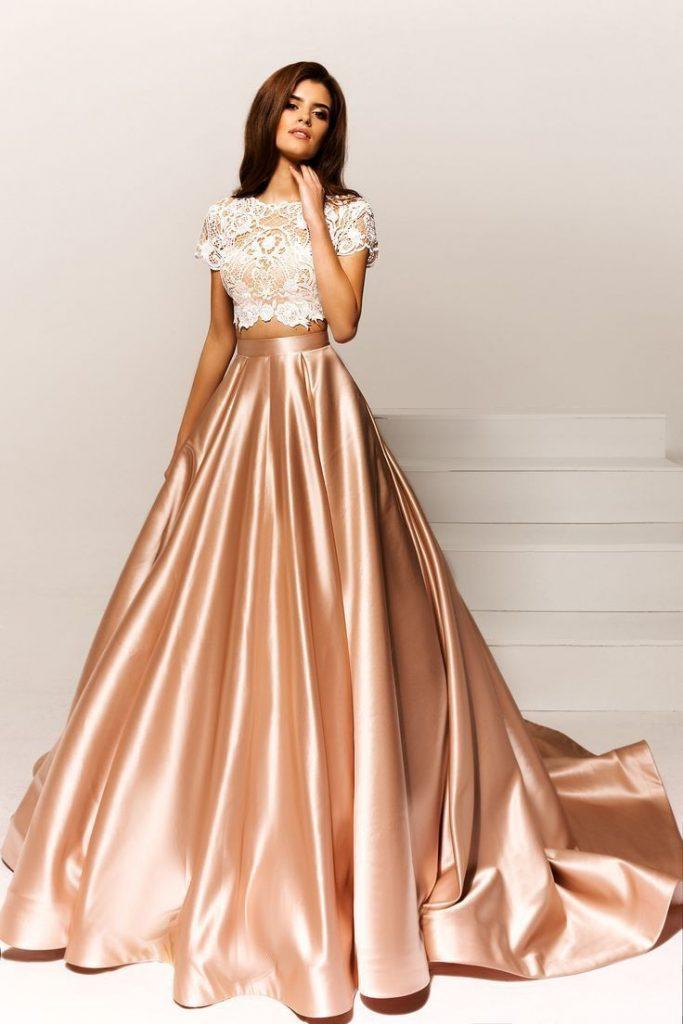 Abend Leicht Zweiteiler Abendkleid Boutique - Abendkleid