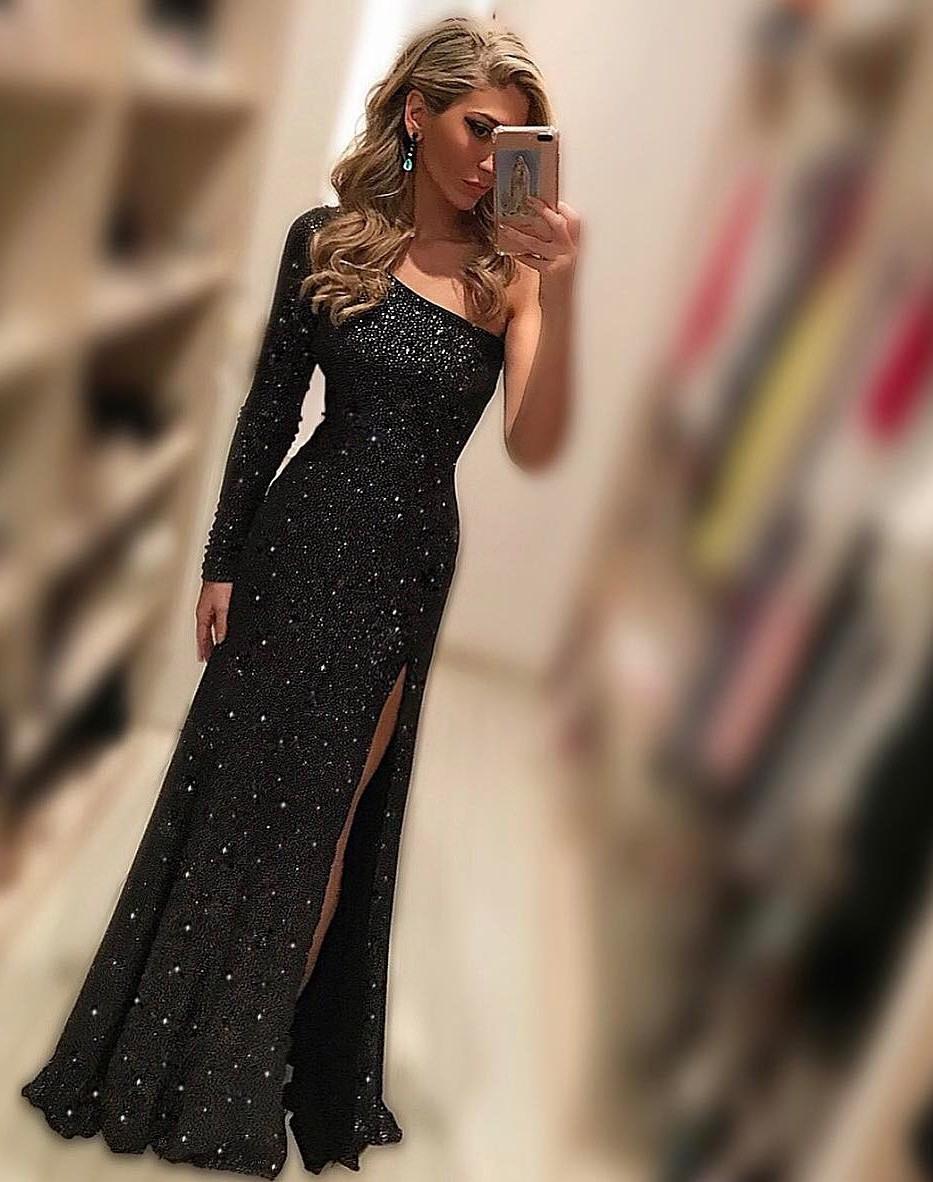 Formal Großartig Abendkleid Lang Schwarz StylishDesigner Spektakulär Abendkleid Lang Schwarz Boutique