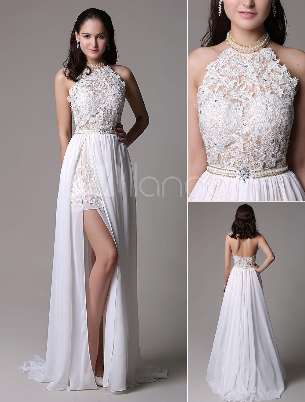 Top Abendkleid Weiß Lang Spitze Vertrieb Coolste Abendkleid Weiß Lang Spitze Stylish