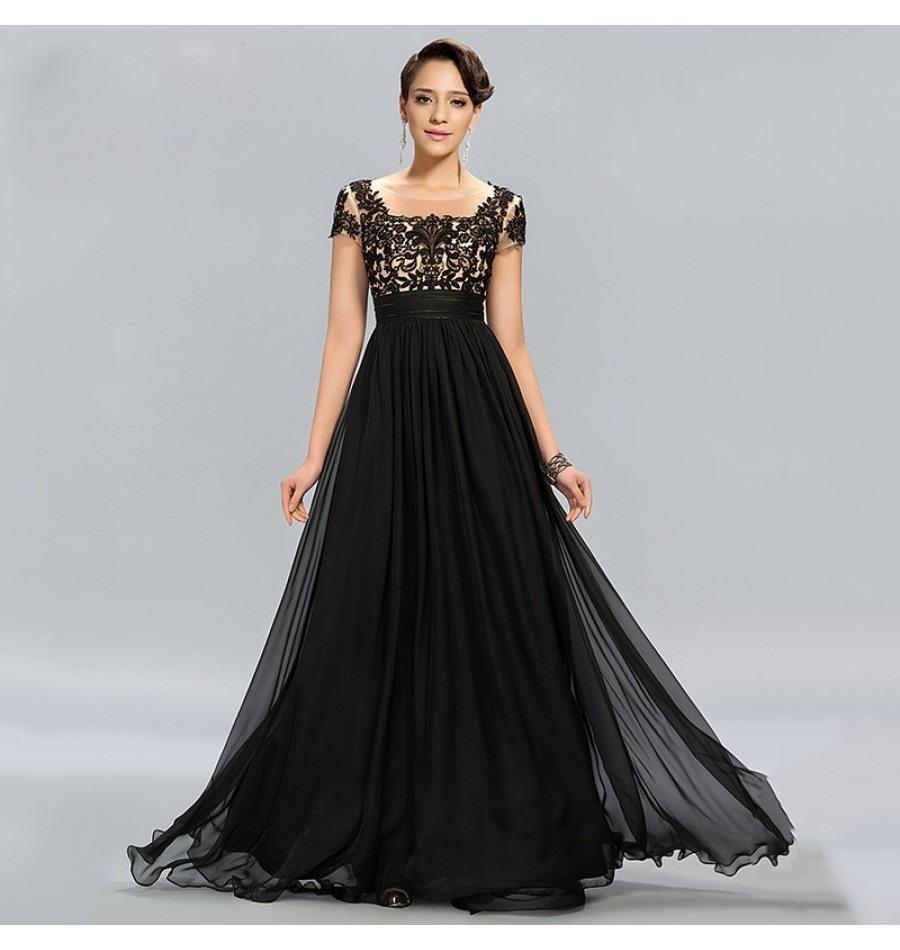 Abend Wunderbar Abendkleid Schwarz Spitze Lang StylishDesigner Genial Abendkleid Schwarz Spitze Lang für 2019