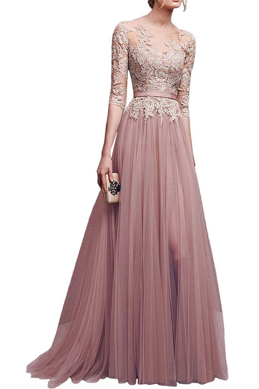 Elegant Abendkleider Rosa Bester PreisAbend Kreativ Abendkleider Rosa Ärmel