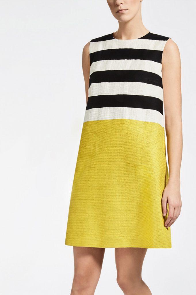 Ausgezeichnet Kleid Schwarz Gelb Gestreift Stylish ...