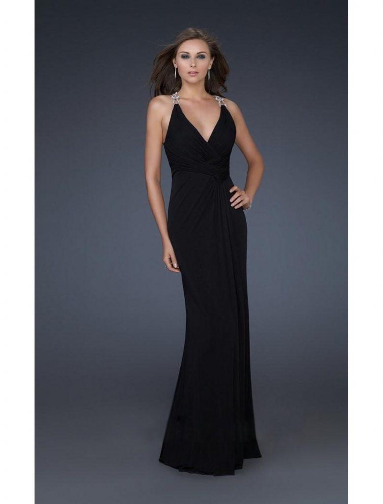 Abend Spektakulär Schwarzes Bodenlanges Kleid Ärmel10 Luxurius Schwarzes Bodenlanges Kleid für 2019