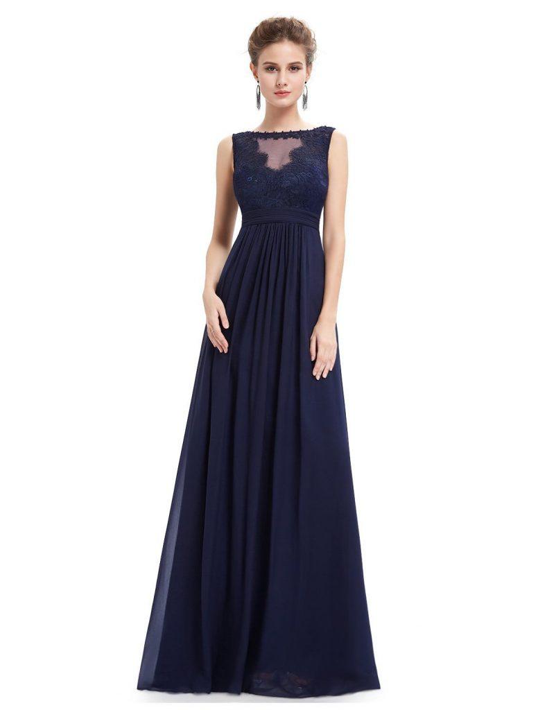 Cool Langes Blaues Kleid für 2019 - Abendkleid