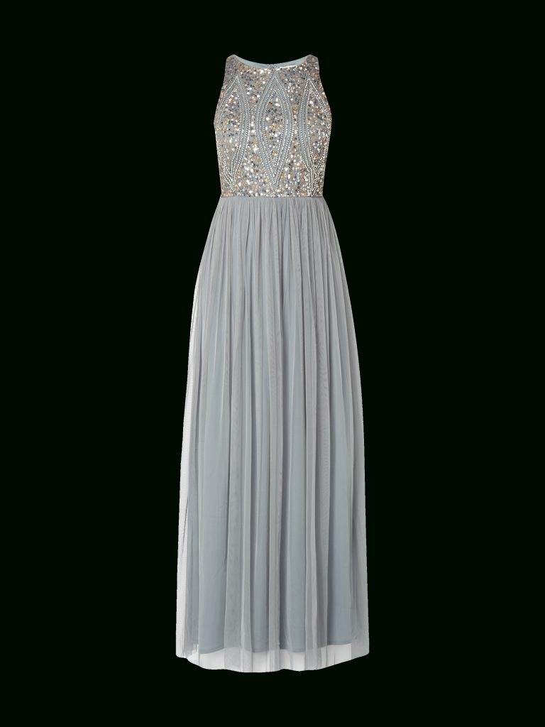 Designer Coolste Abendkleid Grau Lang Stylish - Abendkleid