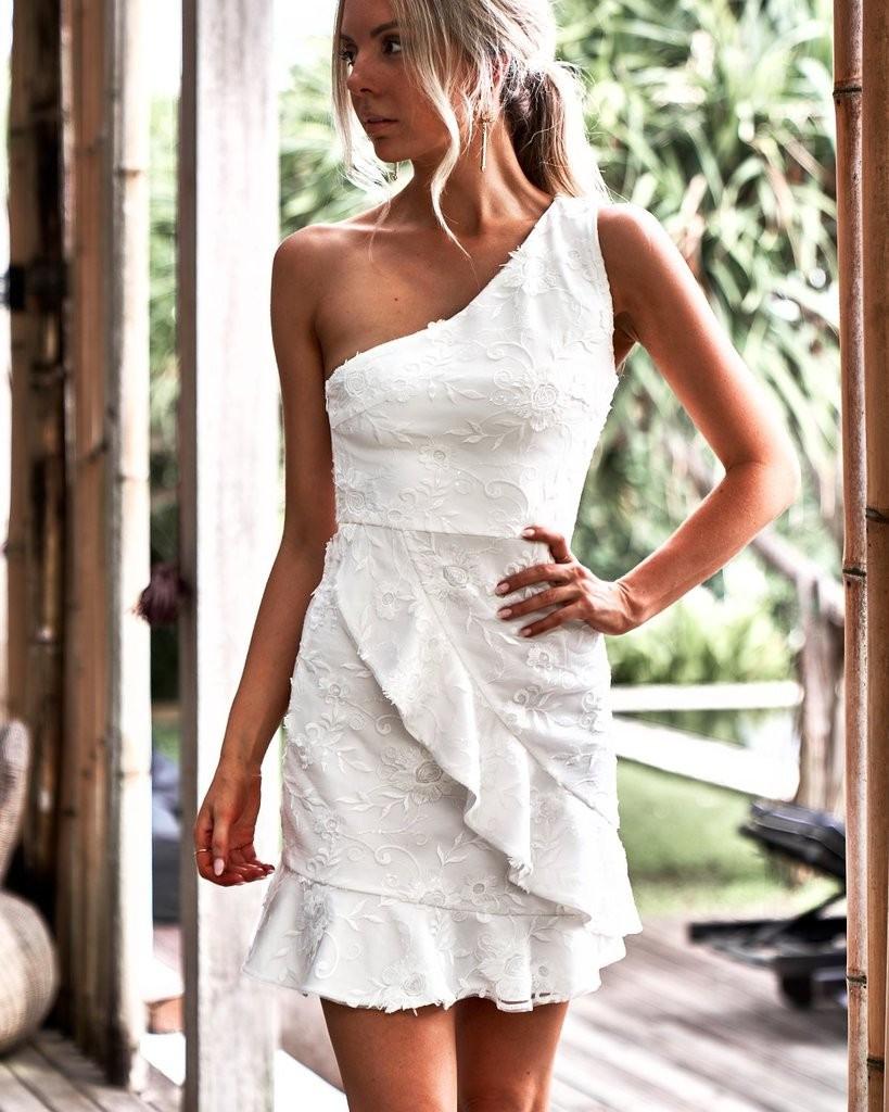 Designer Perfekt Kleid Weiß Kurz Galerie20 Perfekt Kleid Weiß Kurz Ärmel