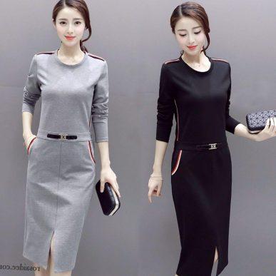 formal-leicht-winterkleider-langarm-boutique