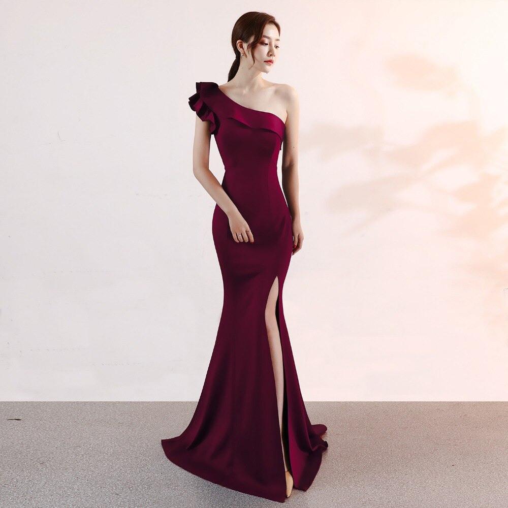 Spektakulär Abendkleid One Shoulder Vertrieb Schön Abendkleid One Shoulder Ärmel
